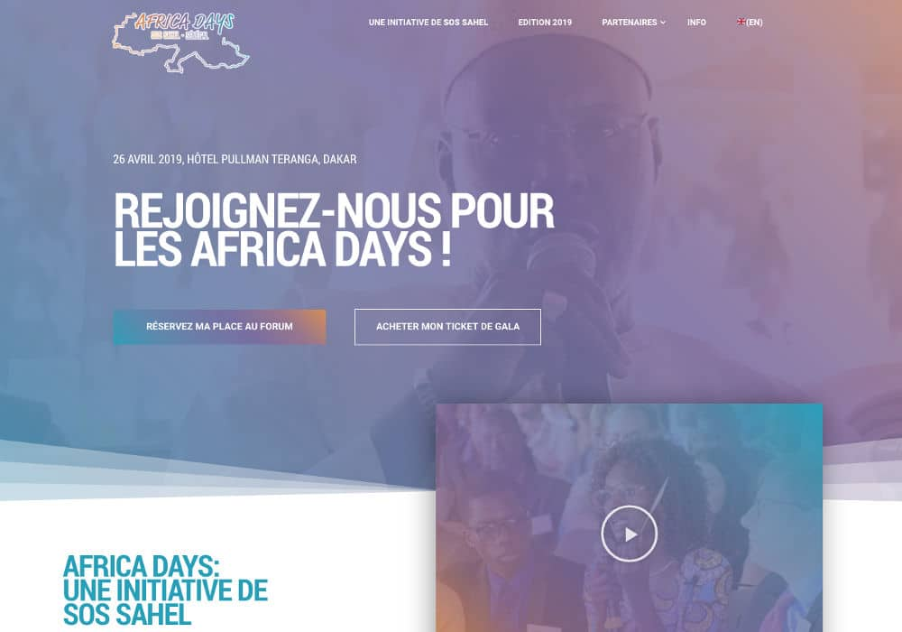 Africa Days by SOS SAHEL is a client of Good Agency. Good Agency is a Brooklyn, New York, based creative digital fundraising agency specialized in WordPress website design for nonprofit organizations