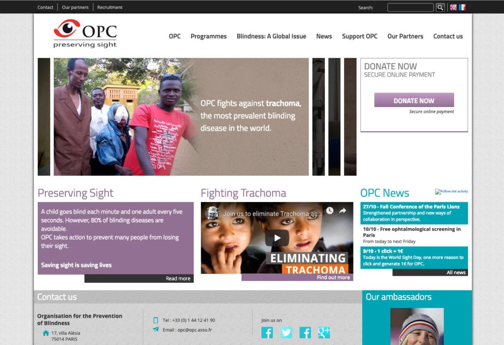 OPC is one of Good Agency's nonprofit clients. Good Agency is a Brooklyn, New York, based creative digital fundraising agency specialized in WordPress website design for nonprofit organizations