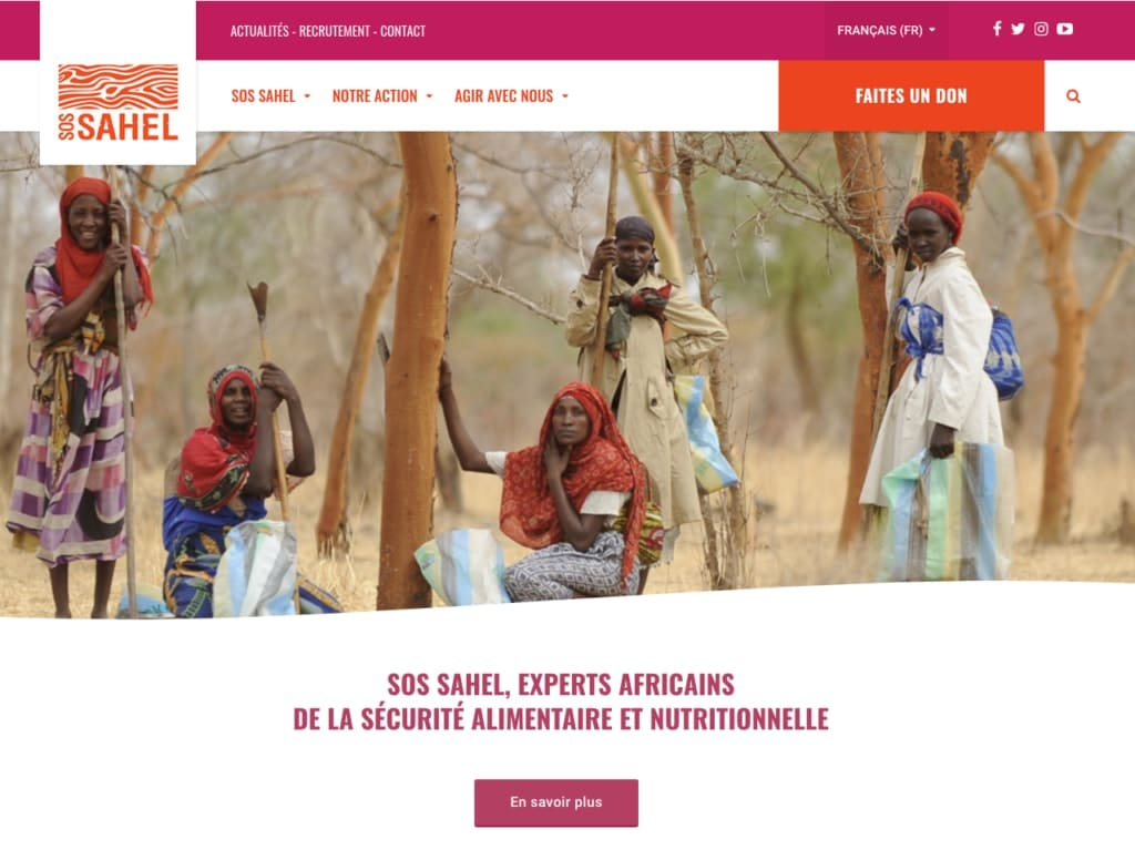 SOS SAHEL is one of Good Agency's nonprofit clients. Good Agency is a Brooklyn, New York, based creative digital fundraising agency specialized in WordPress website design for nonprofit organizations