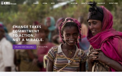 Good Agency is a Brooklyn, New York, based creative digital fundraising agency specialized in Nonprofit website design. This image shows one of Good Agency's clients' website